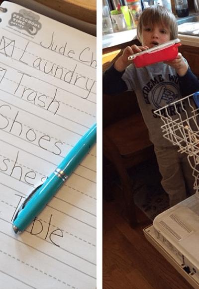teaching my child to do chores