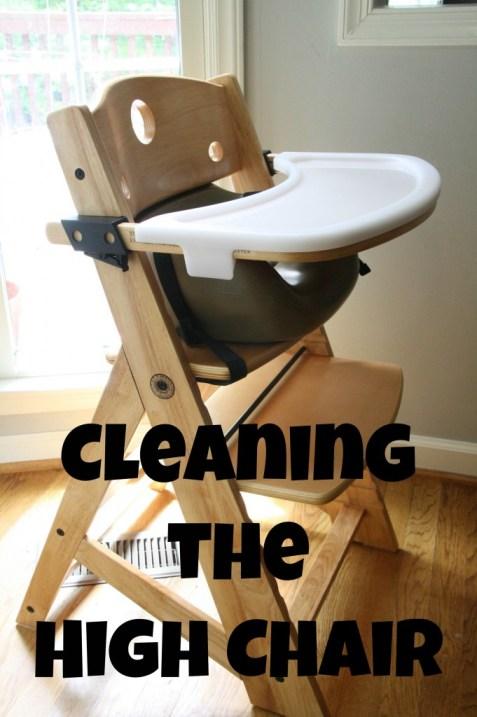 clean the high chair