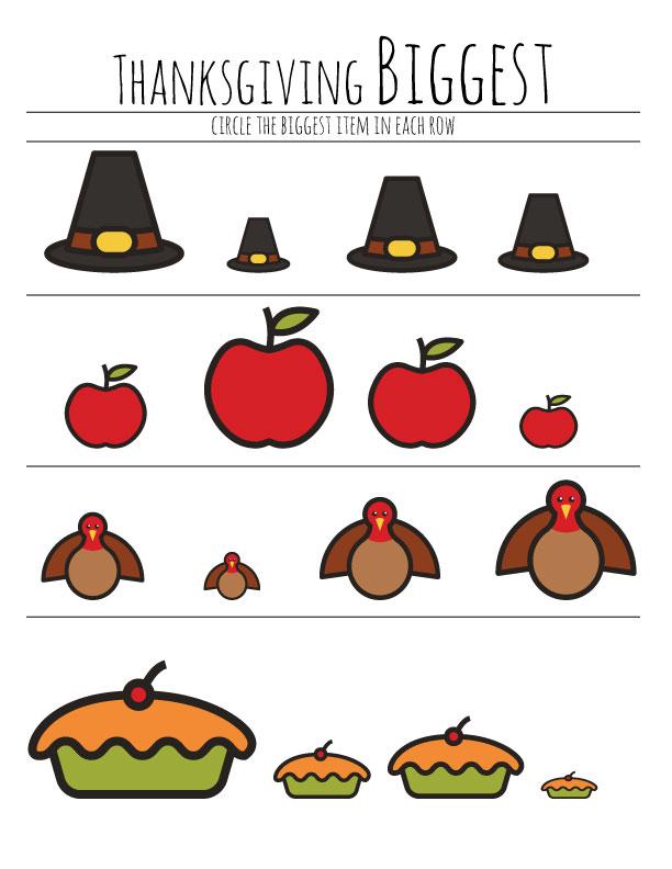 image regarding Thanksgiving Puzzles Printable Free called Free of charge Preschool Thanksgiving Worksheet The B Retains Us Trustworthy