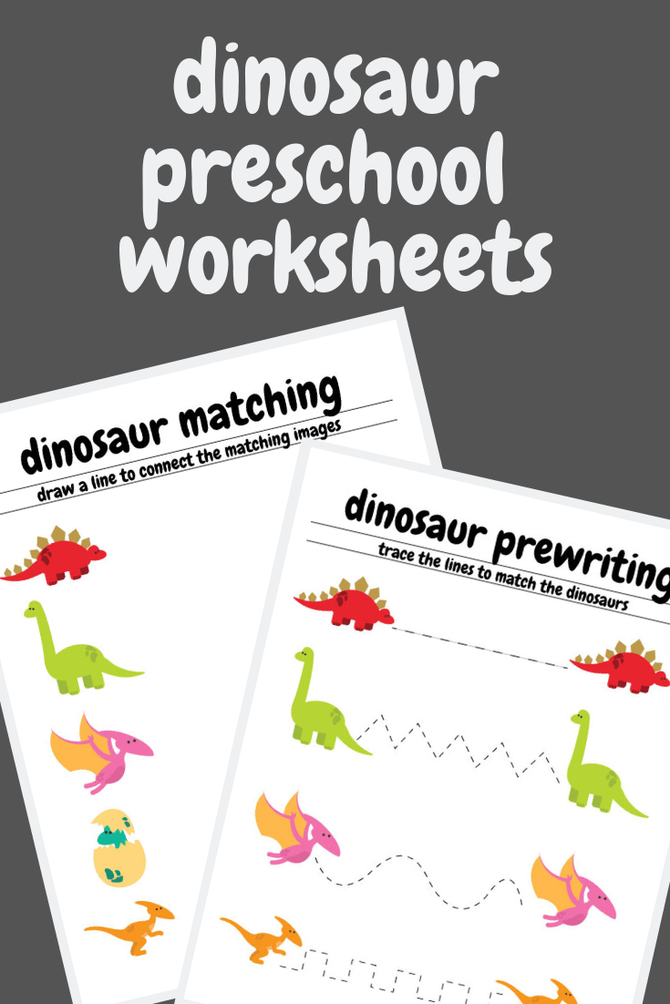 Free Dinosaur Preschool Worksheets – The B Keeps Us Honest
