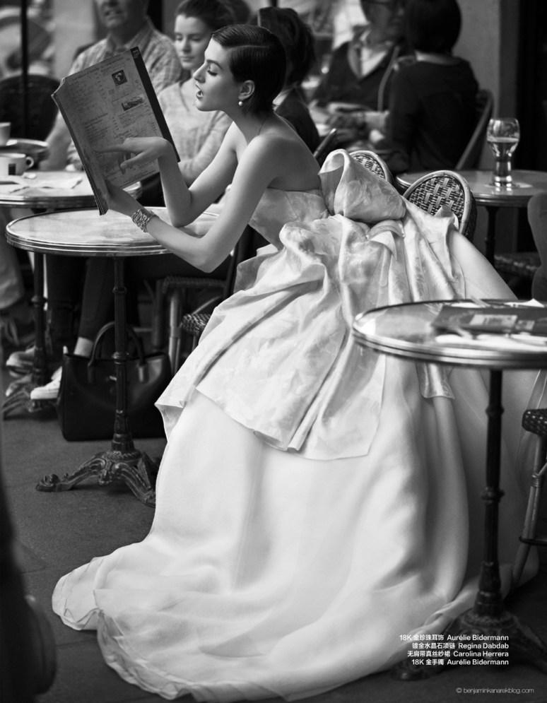 Athena Wilson in Carolina Herrera © Benjamin Kanarek