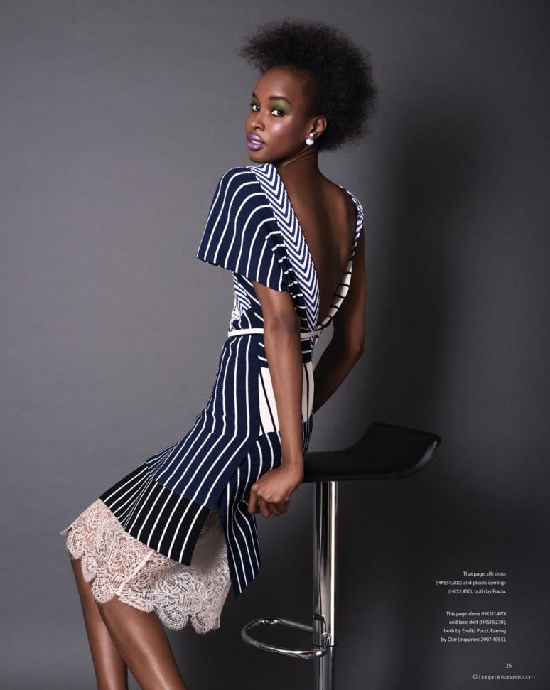 Kad Diallo wearing Emilio Pucci © Benjamin Kanarek