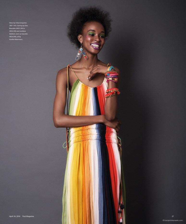 Kad Diallo wearing Chloé © Benjamin Kanarek