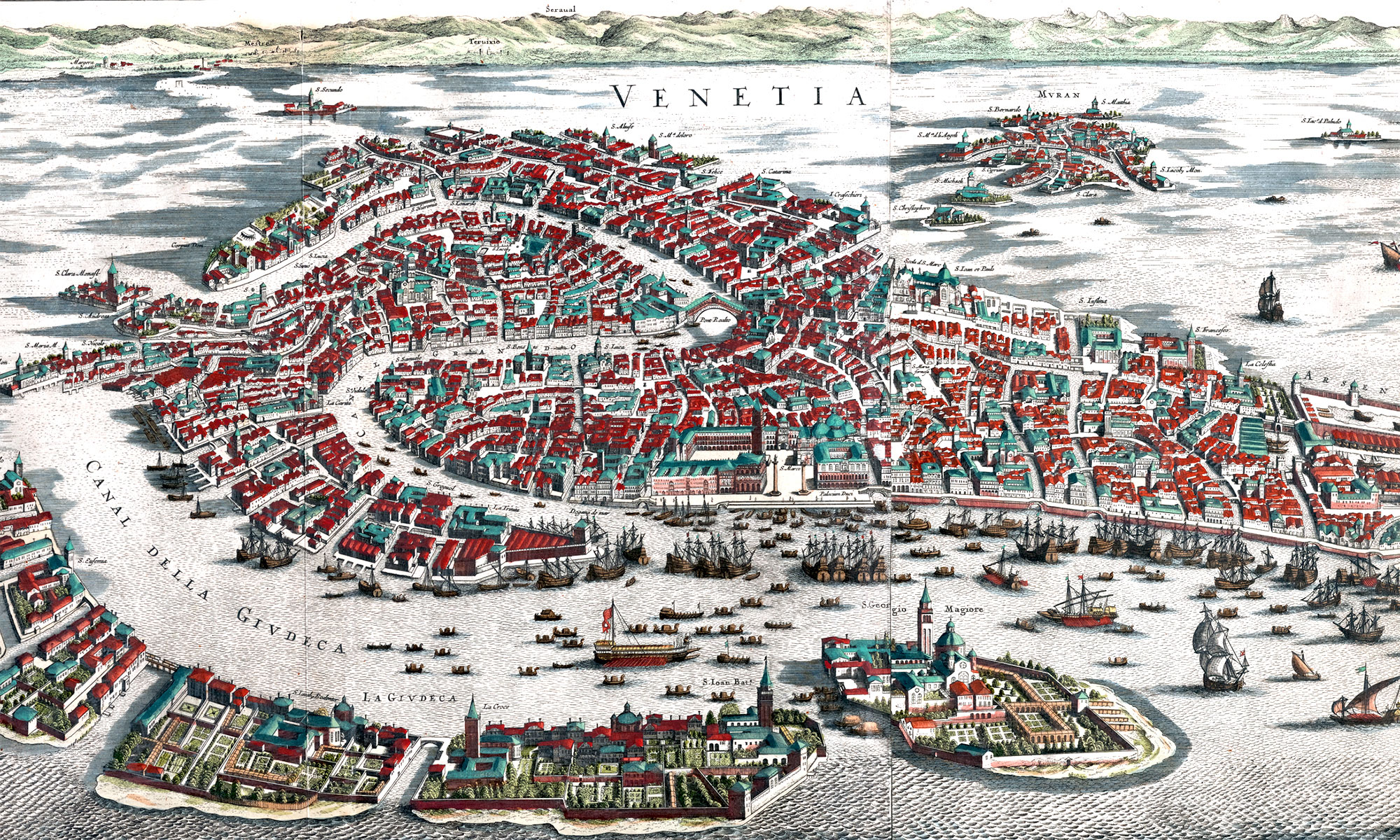 Map of Venice from 1641