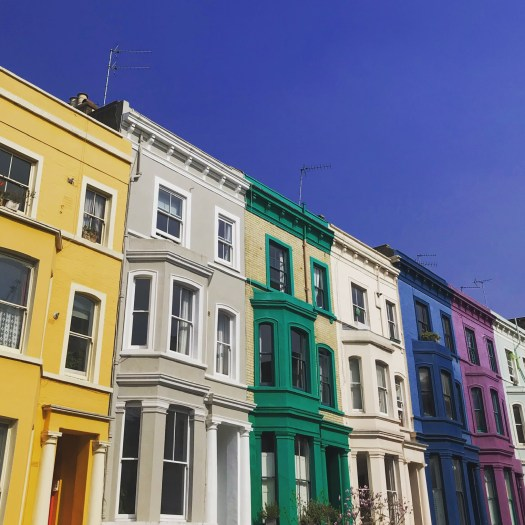 Photo of colourful row houses