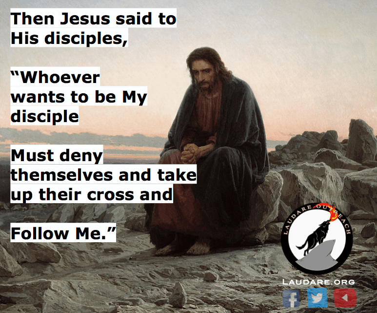 Sunday's Gospel: Whoever does not carry his own cross and come after me cannot be my disciple.
