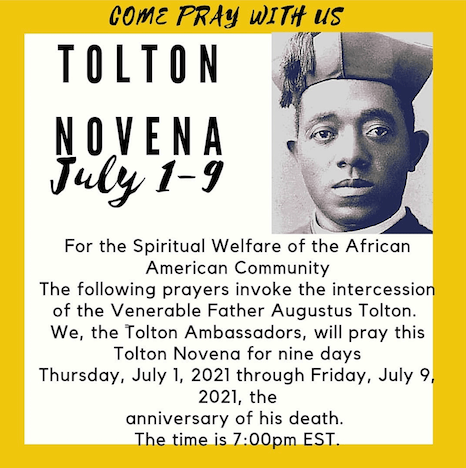 Tolton Novena for the Spiritual Welfare of the Black American Community (July 1-July 9) [124th Anniversary of Tolton's Death] Begins Today! – Day 1