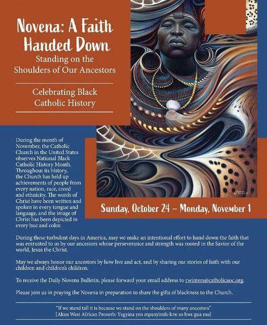 National Black Catholic History Month Novena Heads Up!