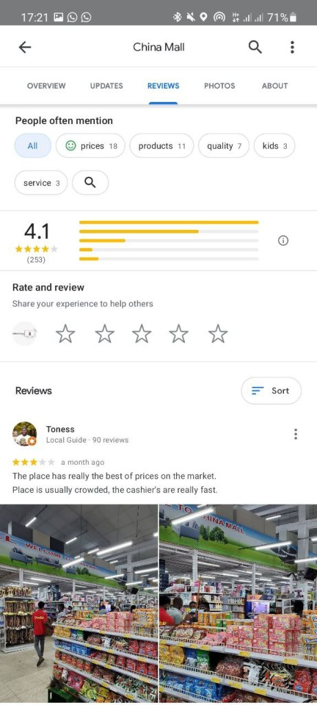 how to add photos to a google review on Phone