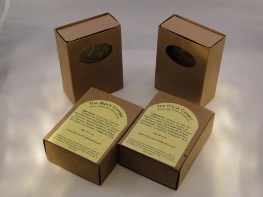 Shrnink wrapped inside a kraft paper box!