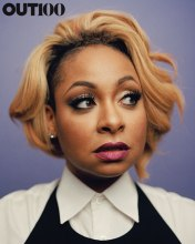 Raven Symone: Photography by Ryan Pfluger at Tribeca Journal Studio, New York, on September 21, 2015. Styling by Javon Drake. Hair: Dallin James at The Wall Group. Makeup: Kim Bower at Exclusive Artists Management. Shirt by Prada. Dress by Aqua available at Bloomingdale's.