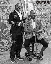 Lee Daniels & Kehinde Wiley: Photography by Ryan Pfluger Photographed at Kehinde Wiley Studio, Brooklyn, on September 18, 2015. Styling by Javon Drake.
