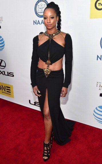MONIQUE COLEMAN NAACP IMAGE AWARDS 2016 RED CARPET
