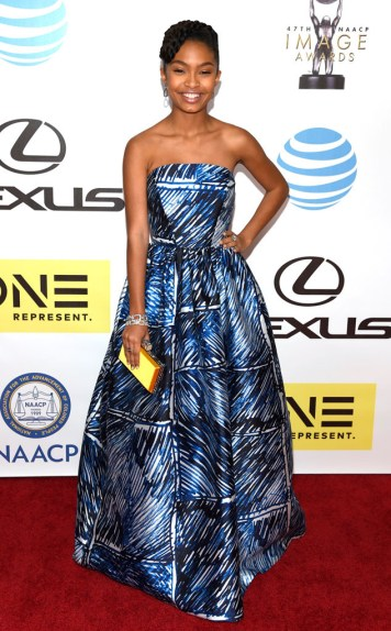 YARA SHAHIDI NAACP IMAGE AWARDS 2016 RED CARPET