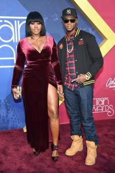 LAS VEGAS, NV - NOVEMBER 06: Rappers Remy Ma (L) and Papoose attend the 2016 Soul Train Music Awards at the Orleans Arena on November 6, 2016 in Las Vegas, Nevada. (Photo by Ethan Miller/Getty Images)