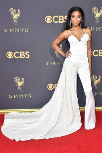 LOS ANGELES, CA - SEPTEMBER 17: Actor Ajiona Alexus attends the 69th Annual Primetime Emmy Awards at Microsoft Theater on September 17, 2017 in Los Angeles, California. (Photo by Frazer Harrison/Getty Images)