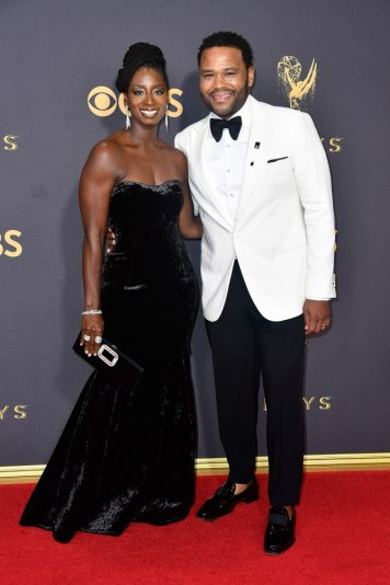 LOS ANGELES, CA - SEPTEMBER 17: Actor Anthony Anderson (R) and Alvina Stewart attend the 69th Annual Primetime Emmy Awards at Microsoft Theater on September 17, 2017 in Los Angeles, California. (Photo by Frazer Harrison/Getty Images)