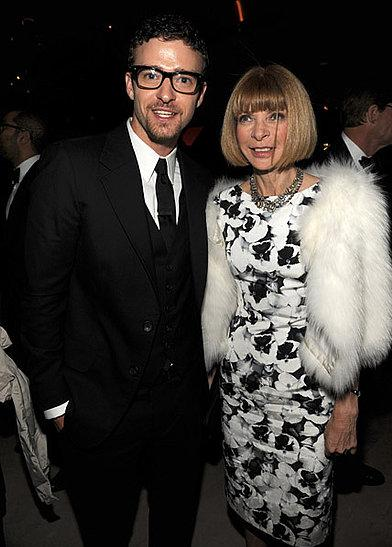Justin Timberlake and Anna Wintour