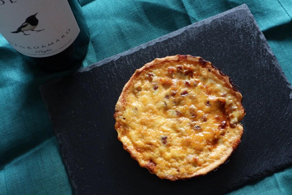 Mini Quiche mit Käse und Speck