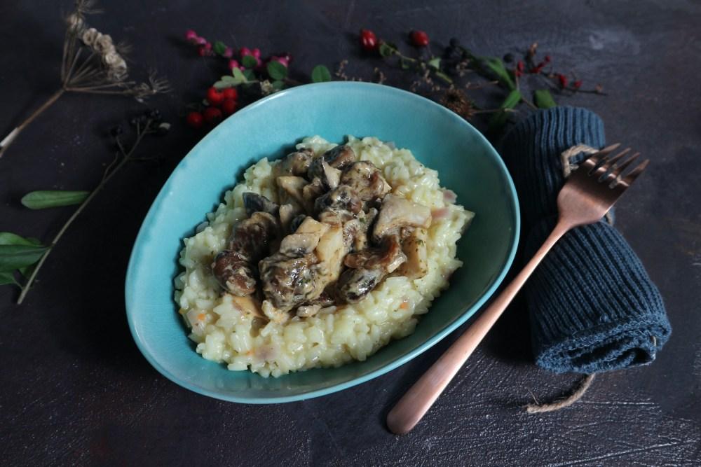 Risotto mit Pilzen und Maronen
