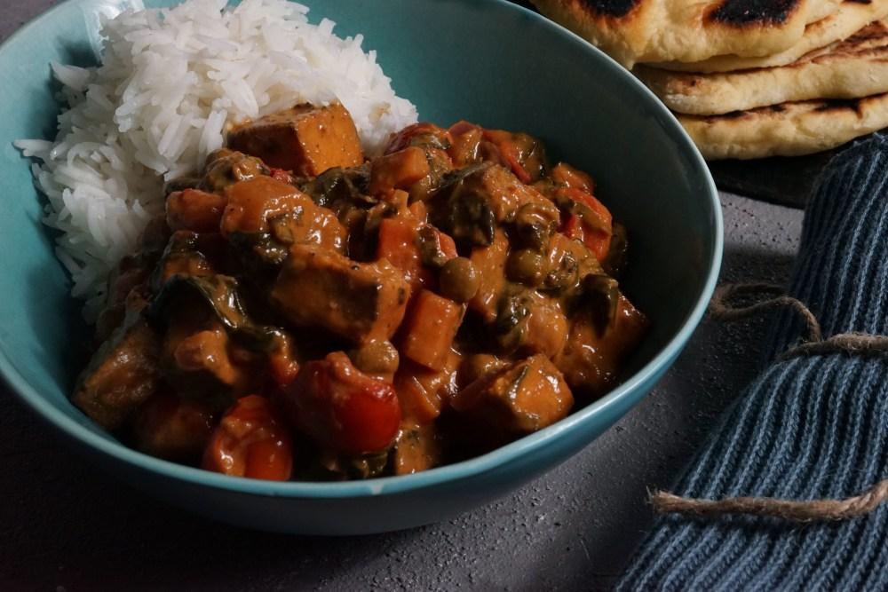 Veggie Curry mit Ofentofu