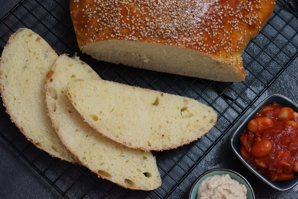Challah Variation mit Snacks