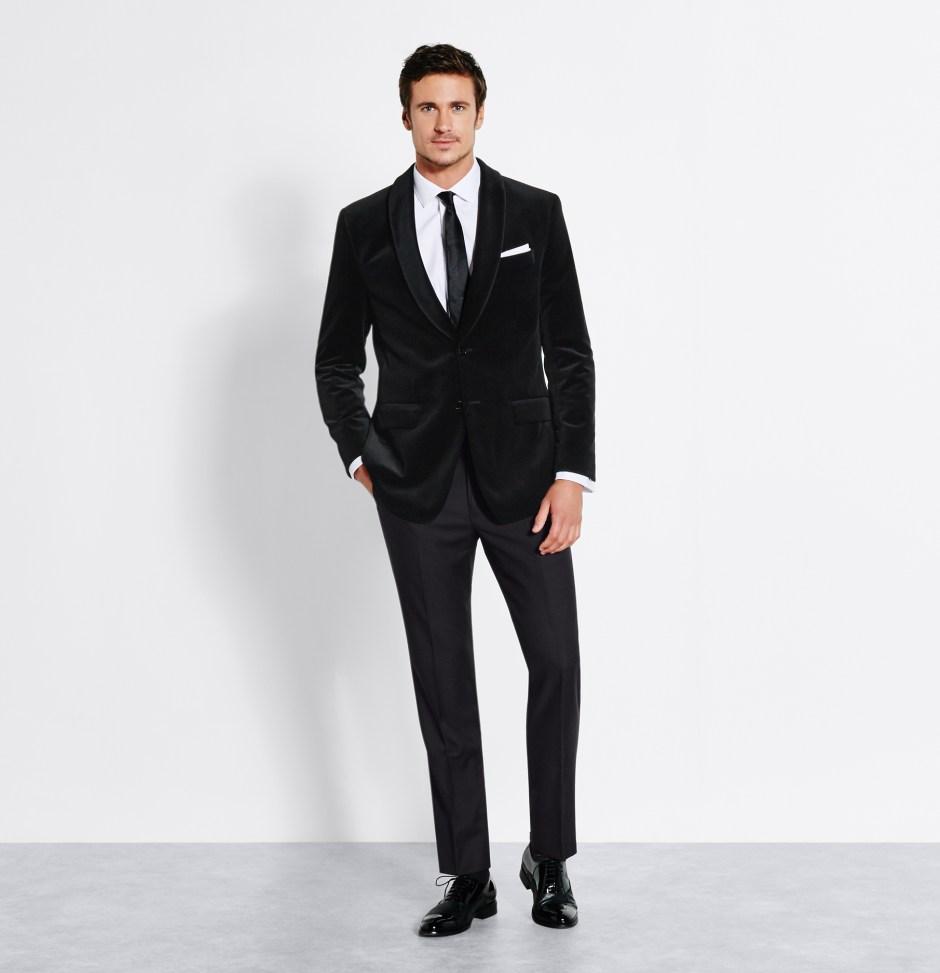 Velvet jacket tuxedo styles.