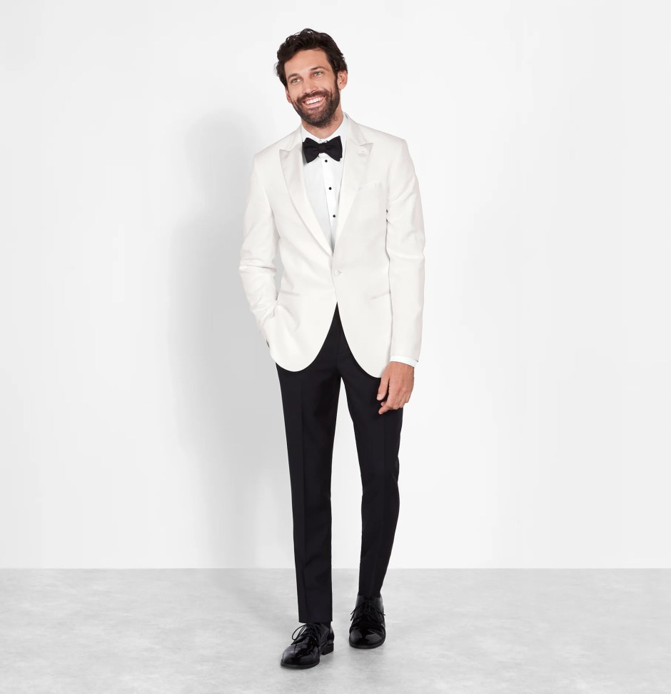 White dinner jacket tuxedo styles.