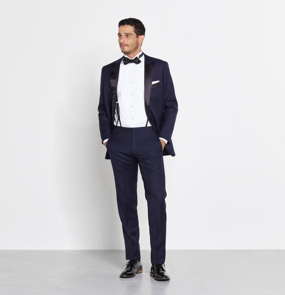 Midnight blue tuxedo styles.