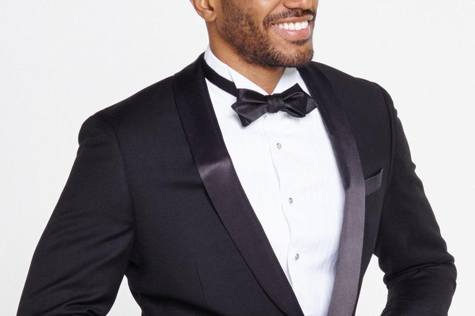 Shawl collar tuxedo.