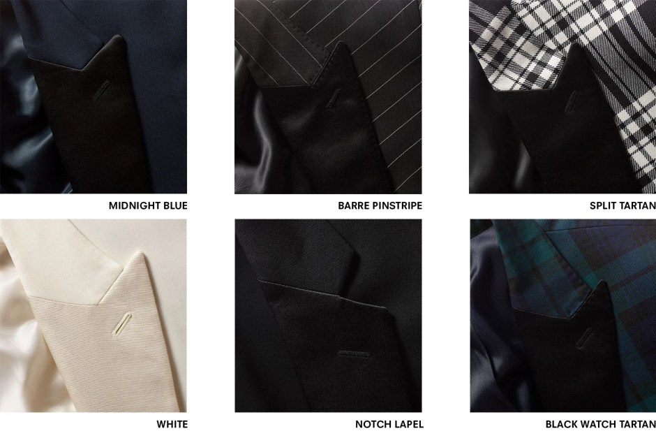 Tuxedo colors and styles.
