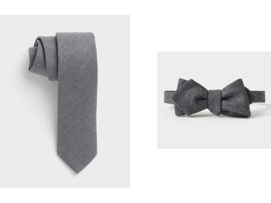 Wool neckwear for tuxedos.