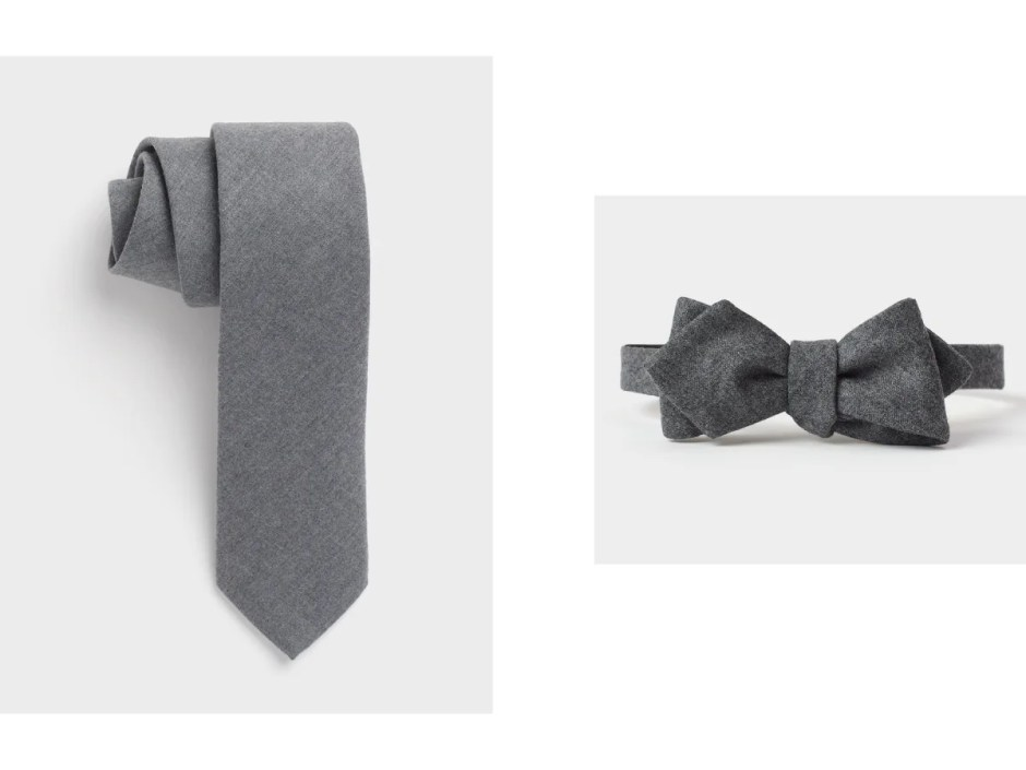 Wool neckwear for tuxedos.