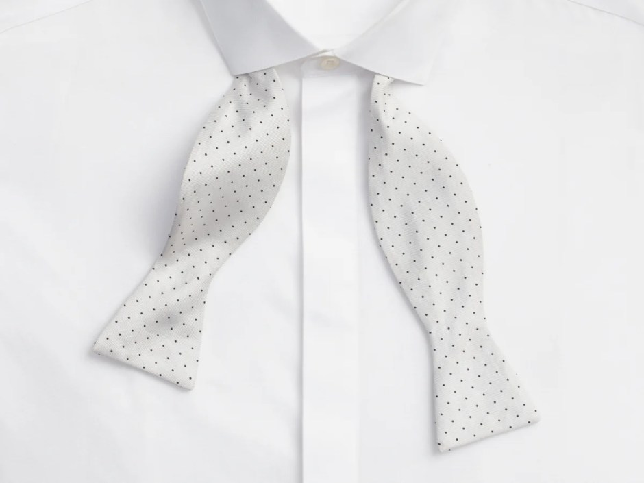 Tuxedo shirt with a covered placket (fly front).