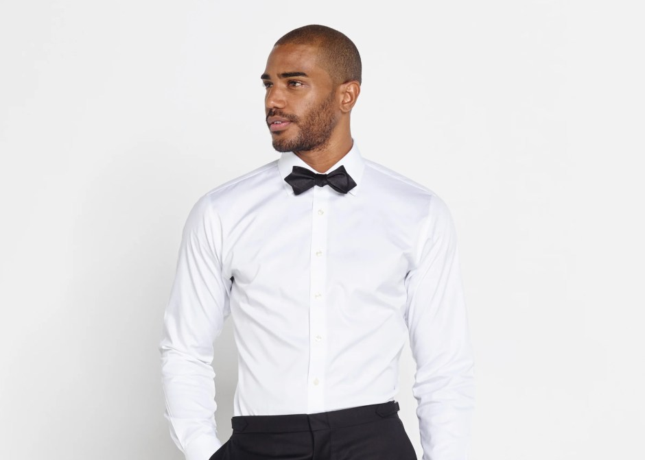 No bib tuxedo shirt