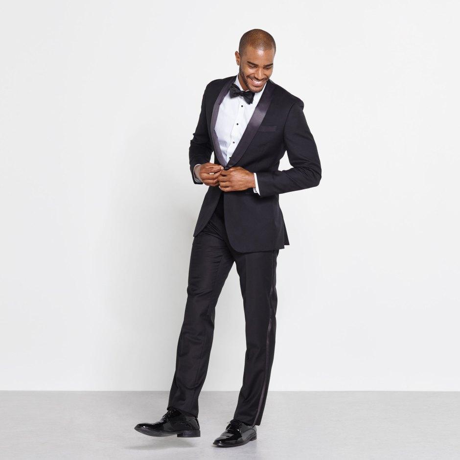 Black tie wedding attire for men