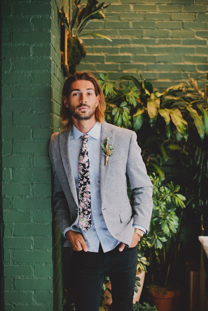 Garden wedding attire for men