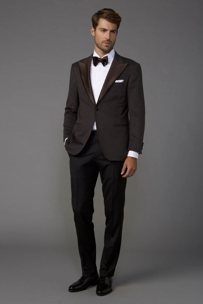 Nighttime wedding attire for men.