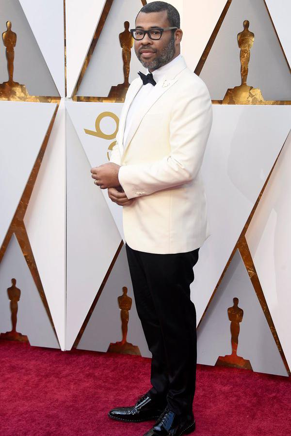 Jordan Peele in one of our favorite prom tux ideas: a white dinner jacket tuxedo.