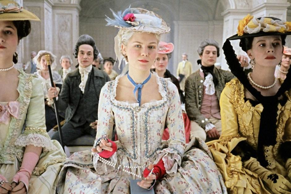 Kirsten Dunst fiddles with pearls in Marie Antoinette.