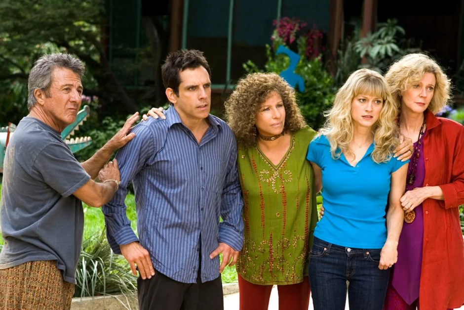 The Meet the Fockers group looks upset with Robert DeNiro.