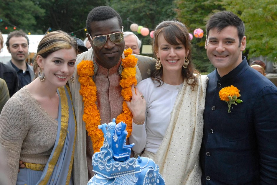 Anne Hathaway is the Maid of Honor in Rachel Getting Married.