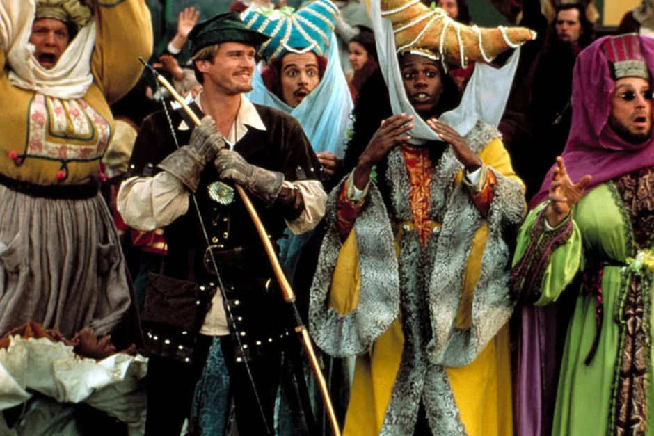 Cary Elwes and Dave Chappelle in Robin Hood Men in Tights.