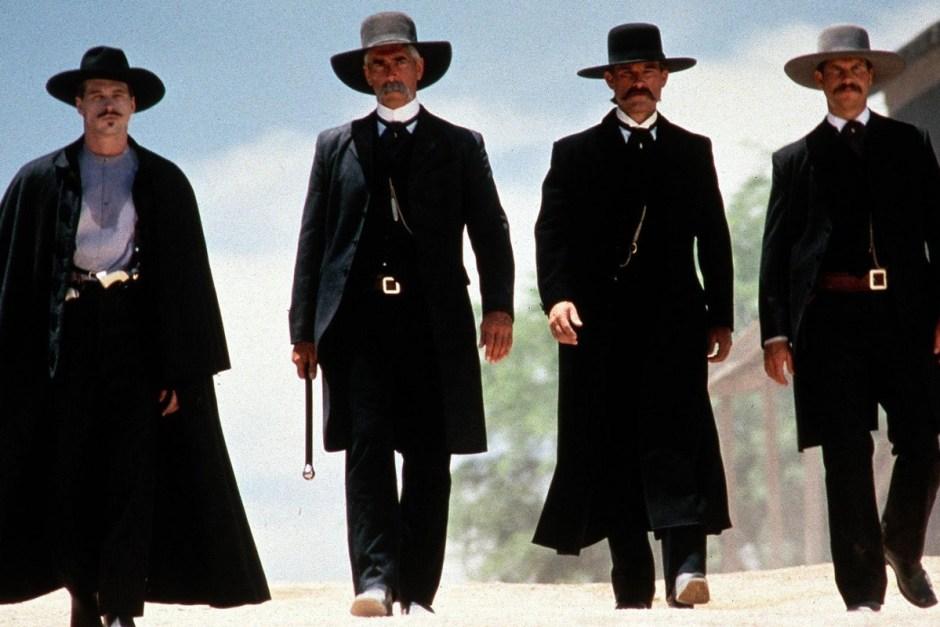 Tombstone group walking.