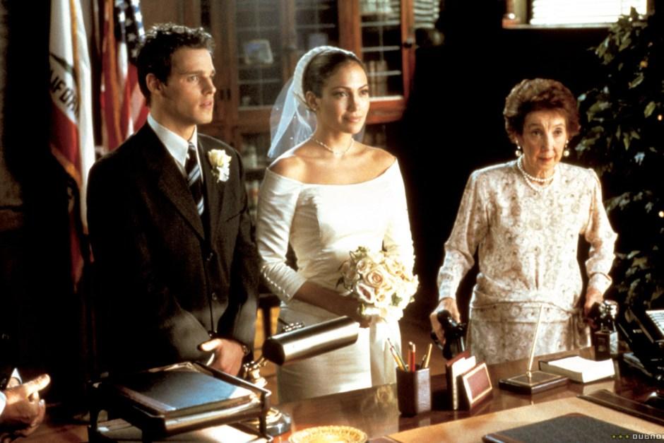 Jennifer Lopez in The Wedding Planner.