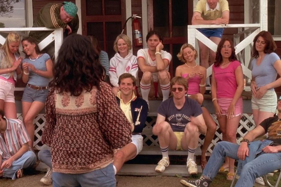 Amy Poehler, Michael Ian Black, Bradley Cooper, and Elizabeth Banks in Wet Hot American Summer.