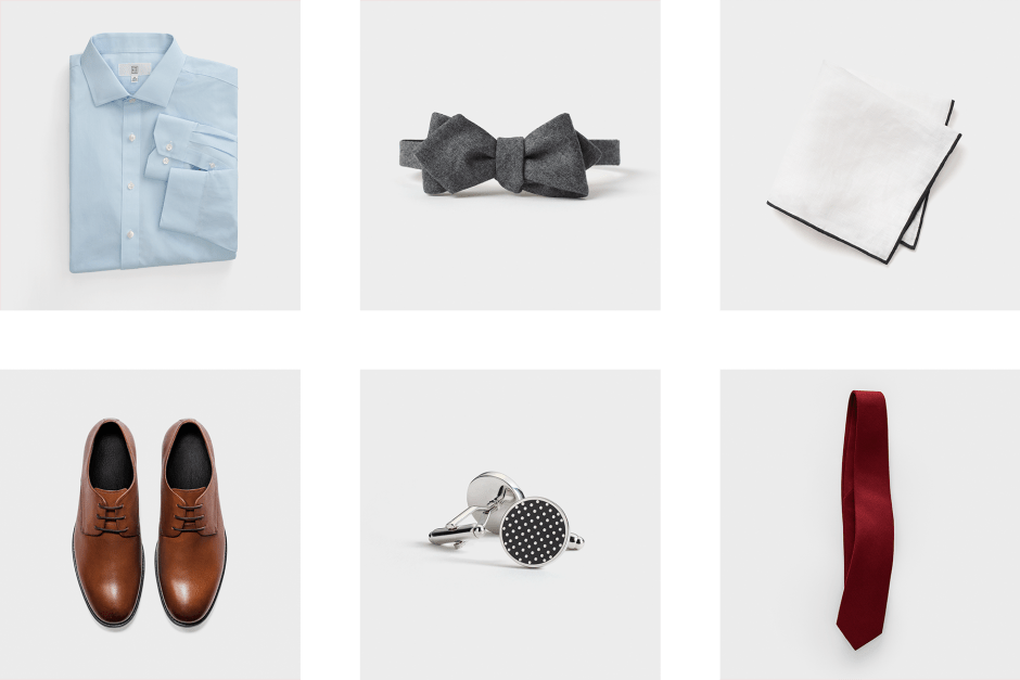 Fall autumn groomsmen suit accessories.