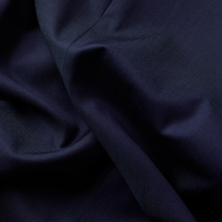 Blue suit fabric.
