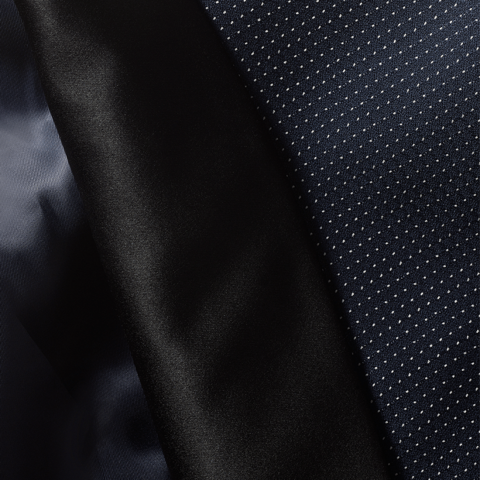 Midnight Pindot Tux fabric.