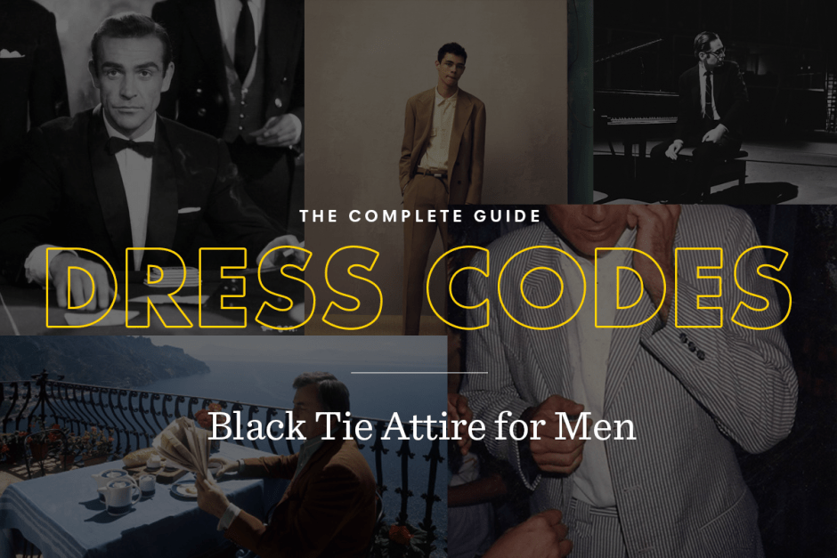 Black tie attire for men dress code guide